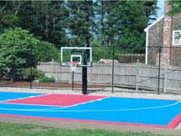 Backyard basketball court from scratch in Halifax, MA