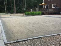 Site of basketball court construction in Dartmouth, MA