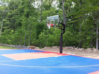 Basketball court in North Attleboro, MA. Stop dreaming and get backyard basketball in Franklin, Norwood, Watertown, Needham, Millis, Natick or Medway this year.