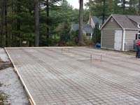 Backyard basketball court base in the making in Hanover, MA.