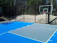Basketball court in Lakeville, MA