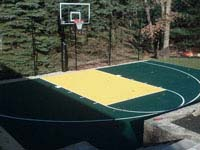 Backyard basketball court in Norfolk, MA