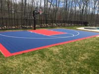 Backyard basketball court in North Attleboro, MA