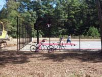 Parsonage Road town basketball court restoration in Plympton, MA