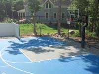 Backyard basketball court in Wareham, MA.