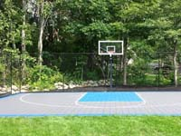 Backyard basketball in West Bridgewater, MA.