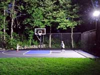 Backyard basketball, lighted for night fun, could be yours in Massachusetts towns like Easton, Halifax, Pembroke, Foxboro or Middleboro.