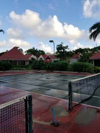 PCaribbean tennis court restoration at Sandals Grande Antigua Resort and Spa in St. Johns, Antigua.