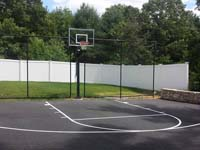 Basketball hoops and accessories like rebounders are also available for basic blacktop courts.